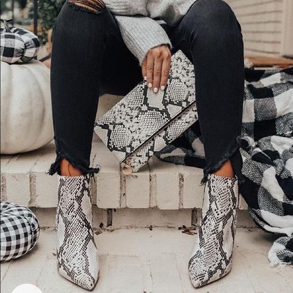 Shoes   Snake Print Booties   Poshmark